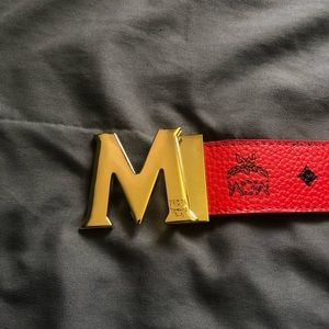 Red belt with buckle